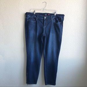[Torrid] Dark Wash Ankle Zip Stiletto Skinny Jeans